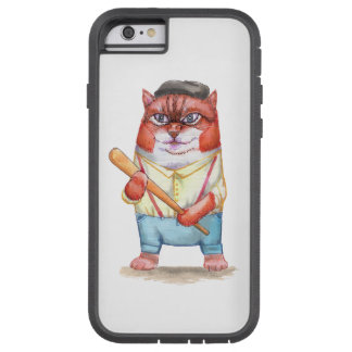 Cat - Bully watercolor illustration Tough Xtreme iPhone 6 Case