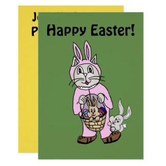 Cat Bunny Easter Invitation