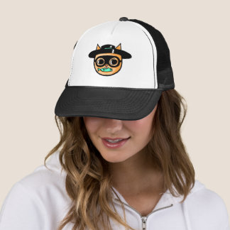 Cat Burglar Illustration Trucker Hat