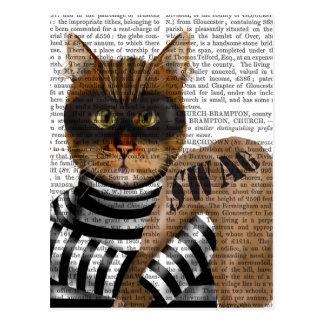 Cat Burglar Postcard
