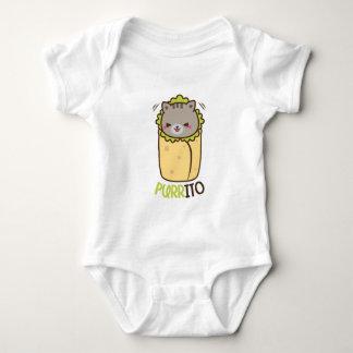 Cat & Burrito Purritp Baby Bodysuit