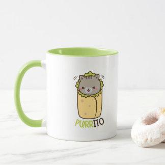 Cat & Burrito Purritp Mug
