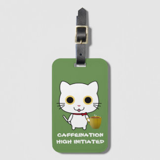 Cat Caffeination High Luggage Tag