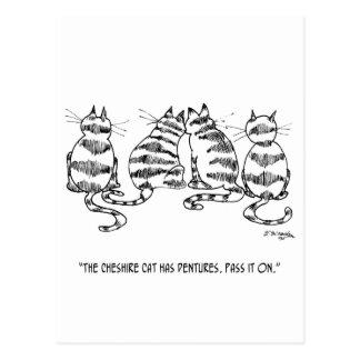 Cat Cartoon 3060 Postcard
