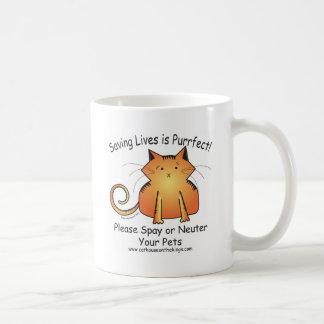 Cat Cartoon on white ceramic mug