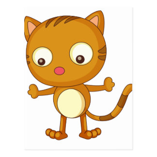Cat cartoon postcard