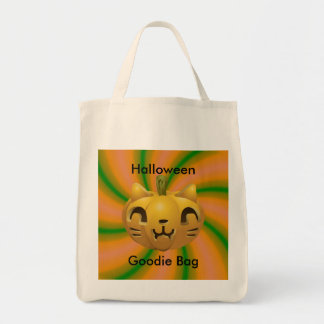 Cat Carved Halloween Goodie Bag