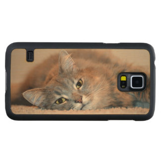 Cat Carved® Maple Galaxy S5 Case