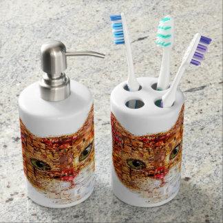 Cat - cat collage bathroom set