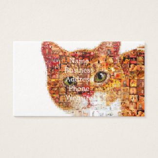 Cat - cat collage business card