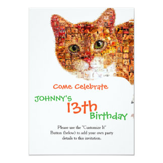 Cat - cat collage card