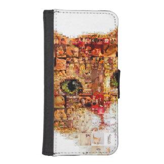 Cat - cat collage iPhone SE/5/5s wallet case