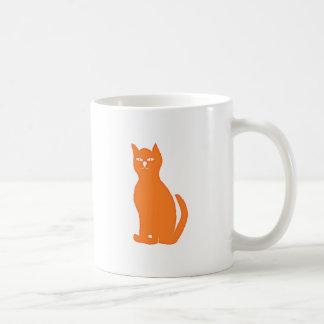 Cat cat orange coffee mugs