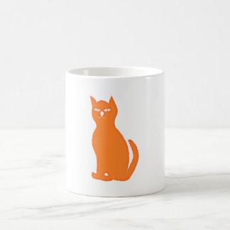 Cat cat orange mug