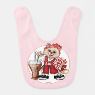 CAT CHEERLEADER CUTE Baby Bib 2