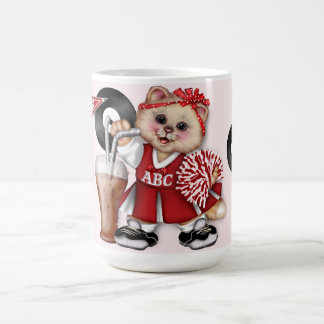 CAT CHEERLEADER GO BOY 15 oz Classic White Mug