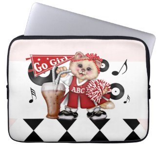 "CAT CHEERLEDER CUTE Electronics Bag 13 inch"""