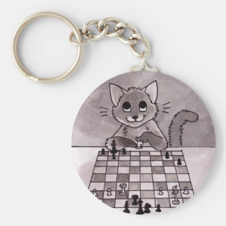 Cat Chess Keychain
