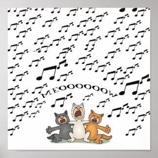 Cat Choir Poster