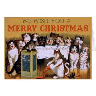Cat Christmas Choir Card