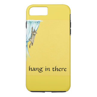 Cat Climbing Curtian Hang In There Phone Case