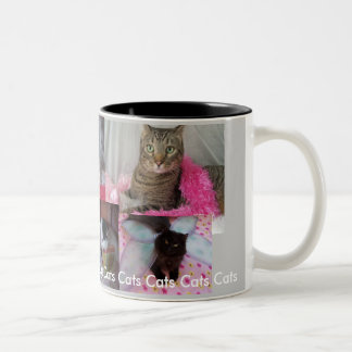 Cat Collage cup. Two-Tone Coffee Mug