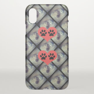 Cat Collage with Paw Prints by Shirley Taylor iPhone X Case