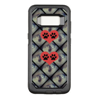 Cat Collage with Paw Prints by Shirley Taylor OtterBox Commuter Samsung Galaxy S8 Case