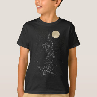 Cat Constellation Reaching For Moon T-Shirt