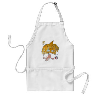cat & cookie - Gingerbread Man Crunch Adult Apron