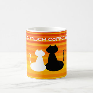 Cat Couple Love Silhouette Too Much Coffee Vibrant Coffee Mug