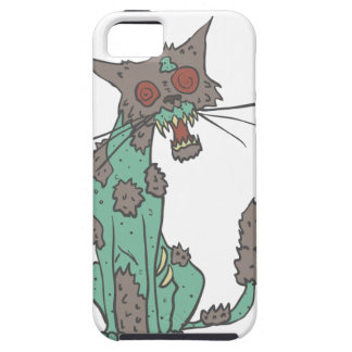 Cat Creepy Zombie With Rotting Flesh Outlined Hand iPhone 5 Case