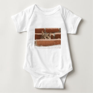 Cat Curious Young Cat Cat's Eyes Attention Wildcat Baby Bodysuit