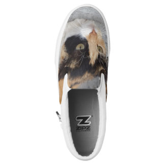 Cat Custom Zipz Slip On Shoes,  Men & Women Printed Shoes