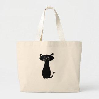cat cute baby animal fun joy happy beautiful large tote bag