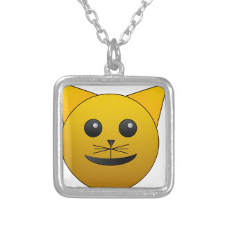 cat cute baby animal fun joy happy beautiful silver plated necklace