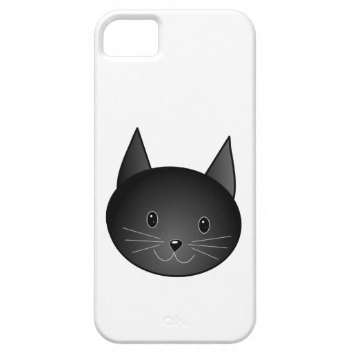 Cat. Cute black kitty. iPhone 5 Cases