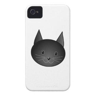 Cat Cute black kitty Case-Mate iPhone 4 Cases