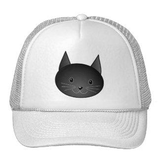 Cat. Cute black kitty. Hats