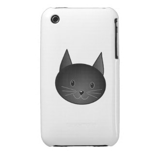 Cat. Cute black kitty. iPhone 3 Case