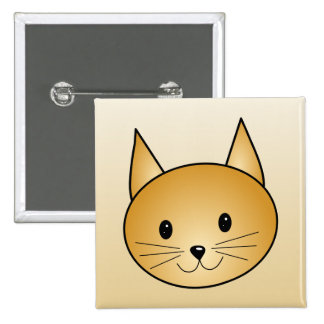Cat Cute ginger kitty Pinback Buttons