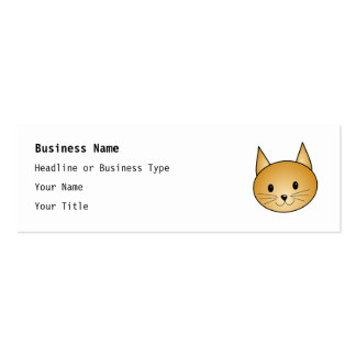 Cat. Cute ginger kitty. Business Card