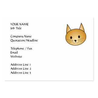 Cat. Cute ginger kitty. Business Cards