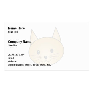 Cat. Cute ginger kitty. Business Card Template