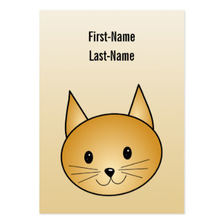 Cat. Cute ginger kitty. Business Card Templates