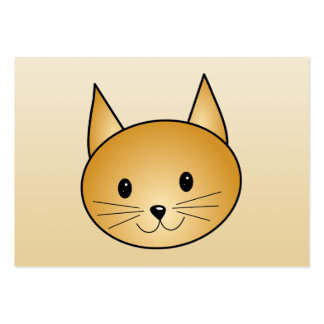 Cat. Cute ginger kitty. Large Business Cards (Pack Of 100)