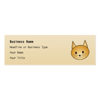 Cat. Cute ginger kitty. Pack Of Skinny Business Cards