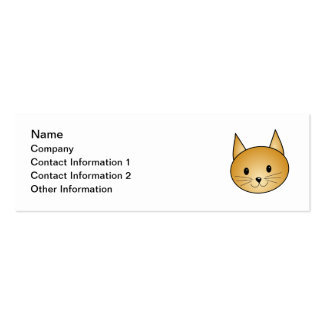 Cat. Cute ginger kitty. Double-Sided Mini Business Cards (Pack Of 20)