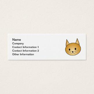 Cat. Cute ginger kitty. Mini Business Card
