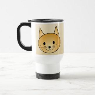 Cat. Cute ginger kitty. 15 Oz Stainless Steel Travel Mug